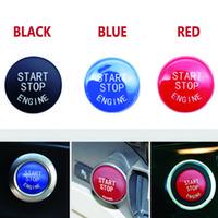 Botão de interruptor de parada do motor de carro Substitua a tampa para BMW 1 3 5 7 F10 F25 F15 F25 F30 F48 E60 E70 E71 E90 E92 E93 x1 x3 x4 x