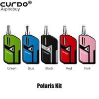 Curdo Polaris Pod System Kit 400mAh батарея с 1,0 мл Канны картридж 2.2o Cememic Coil для густого масла светодиодного индикатора аутентичного