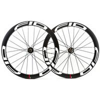الكربون القرص 700C الكربون 50mm العجلات عجلات أنبوبي اللوحة الطريق Cyclocross دراجة دراجة قرص الفرامل محاور العجلات