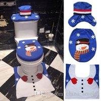 Noel Süsleri Ev Noel Baba Klozet Kapak Seti Banyo Ürün Yılbaşı Navidad Dekorasyon Moda için Kapaklar