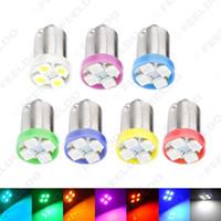 도매 7 색 BA9S T4W 1895 1,210분의 3,528 4SMD 4LED 자동차 LED 조명 대시 보드 빛 문 빛 12V SKU # : 2639