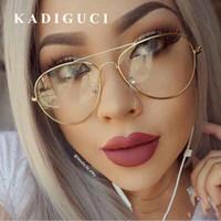 Kadiguci clássico lente clara mulheres homens espelho óculos de sol designer de marca moda ótica óculos transparentes óculos de sol do vintage barato k311