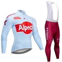 2020 equipo ciclista Katusha CHAQUETA 20D pantalones de la bicicleta fijado invierno Ropa Ciclismo MENS de polar pro BICICLETA desgaste Maillot Jersey