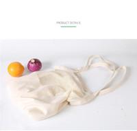 الخضروات يمكن إعادة استخدامها حقيبة تسوق الفاكهة حقائب اليد سلسلة ايكو بقالة طويل التخزين المحمولة عارضة الجوف شبكة صافي القطن حقيبة LJJA3795