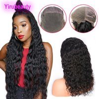 Peruvian Virgin Hair 8- 36inch Full Lace Wigs Water Wave Curl...