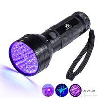 LED a LED UV Torcia 51 LED 395nm Ultra Violet Torcia Lampada Lampada Blacklight Detector per cani Urina Pet Stains and Bed Bug