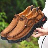 Erkekler Rasgele Ayakkabı Sneakers 2019 Yeni Yüksek Kalite Vintage% 100 Gerçek Deri ayakkabı erkekler İnek Deri Flats deri ayakkabı erkekler