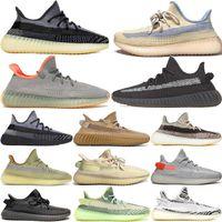 Chaussures de course de Kanye Ouest Chaussures de cendniers Désert de lin gris Gum Chaussure Noir Black Statique Reflective Femmes Designers Sneakers avec boîte 36-48