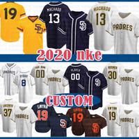 샌디에고 2020 New Baseball Jersey 13 Manny Machado 19 Tony Gwynn 23 Fernando Tatis Jr. 42 Jackie Robinson 2 Jose Pirela 18 Austin Hedges