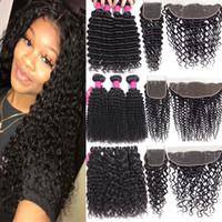 9A Перуанские девственные пакеты волос с закрытия 4x4 Кружева Кружева или 13x4 ухо для уха Кружева Фронтальное закрытие Человеческие волосы плетение с кружевным закрытием
