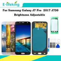 Testato al 100% per Samsung Galaxy J7 Pro 2017 J730 J730F Display LCD Touch Screen Digitizer Assembly Parti di ricambio Luminosità Regolabile