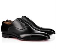 브랜드 남자 드레스 신발 레드 하단 로퍼 럭셔리 파티 웨딩 신발 디자이너 블랙 정품 가죽 스웨이드 드레스 신발 남성 슬립 아파트