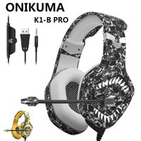 Onikuma 2019 K1 Pro PS4 Gaming Heaming Headset Wired Stereo наушники наушники с микрофоном для нового Xbox One One / ноутбук планшетный компьютер Gamer