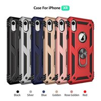 Autohalterung Magnetic Armor Case für iPhone X XS Max XR 8 7 6 6S Plus LG Aristo 2 3 MOTO G7 Power Xiaomi MI 9 SE Stoßfester Ring Skin Cover