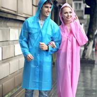 Pluie de haute qualité Cape Non disponible des ménages Raincoat EVA écologique Mode Outdoor Raincoat usine Rainwear LXL1248-L