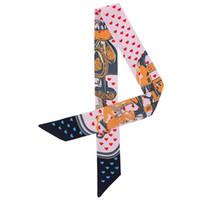 Foulard Donne Tie Mermaid E Cuore stampa sciarpa di seta per le donne di marca 2019 nuovo modo capo Sciarpe per le signore e della ragazza