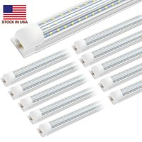 Stock In US + Cnsunway 20/Pack Double Row Integrated T8 8ft Led Tube Light Cold White 120W Clear Lens