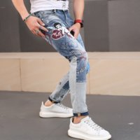 WW5695 Fashion Men' s Jeans 2020 Runway Luxury European ...