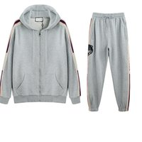 Designer Man Sports Tracksuit Autumn Winter Two Pieces Fashi...