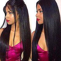 Yaki gerade 360 spitze frontal perücke menschliches haar 150% dichte vorgepft hairline glueleless spitze frontperücken für schwarze frauen 100% unverarbeitet