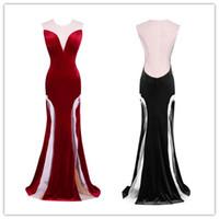 Sex Black Lange Abendkleider Prom Kleider Backless Back Juwel Sheer Neck Formale Abendkleider Sonderanlässe Kleider