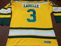 Men # 3 Humboldt Broncos LABELLE HOCKEY REAL JERSEY oder benutzerdefinierten beliebigen Namen oder Nummer Retro Jersey