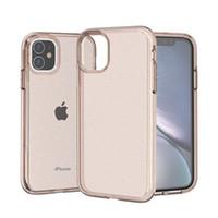 Glitter TPU Téléphone cas pour l'iPhone 11 Pro Max XR XS X 8 7 6 6S plus Bling Poudre Anti Scratch antichocs Cover