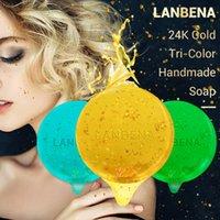 Seifen 24 Karat gold Natürliche Algen Säure handgemachte Seifen Tiefenreinigung feuchtigkeitsspendende pflegende whitening Anti-Falten Gesichtspflege