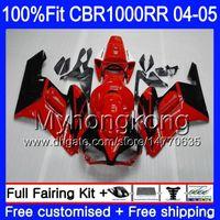 Корпус впрыска + бак для HONDA капот горячий красный CBR 1000RR CBR1000 RR 04-05 275HM.7 CBR1000RR 04 05 CBR 1000 RR 2004 2005 OEM обтекатели комплект