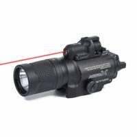 X400V IR للرؤية الليلية الخفيفة كومبو ليزر المسدس التكتيكي LED الأحمر المصباح ليزر فائقة الناتج عالية