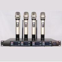 U-F4000 Profesyonel UHF Kablosuz Mikrofon Sistemi Dört Kanal Akülü Alıcı Vokal El Mic Mike Mikrofonun Sem Fio Microfono