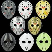 Arcaística máscara de Jason asesino de la cara llena de antigüedades máscara vs Jason Viernes 13 Prop horror Máscara del hockey de Halloween del traje de Cosplay en stock