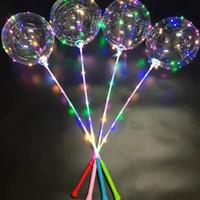 BOBO Ball LED LINE с ручкой ручка управления волной шарика 3M струнные шары мигающие света вверх для свадьбы день рождения украшения игрушки