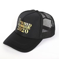 Cappello da baseball di Trump 2020 Lettera Fashion Hot Stamping Hat Causale Unisex Sport Mesh Cap Outdoor Travel Beach Cappello da sole cny1360