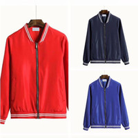 Hip Hip Baseball Jacket For Men Moda Autunno stand Collare Mens giacca designer di New Thin Coppia Jacket
