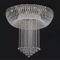 الحد الأدنى الحديث led كريستال الثريا ضوء غرفة المعيشة ضوء الدرج البيضاوي مصباح السقف الإبداعية غرفة نوم فيلا chandelierd80 * H100