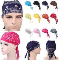 Lüks Unisex Pamuk durags Bandana Turban Şapka Korsan Peruk Doo Durag Biker Şapkalar Kafa Korsan Şapkası Binme Saç Aksesuarları Caps kapakları