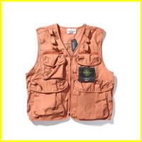 19fw Yeni lüks marka tasarımın pusula Kamuflaj Kargo yelek erkekler Kadınlar Moda rahat Streetwear Tişörtü Açık gömlek