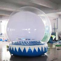 Globo gonfiabile della neve di trasporto libero per la pubblicità del globo umano della neve dell'iarda di natale del cortile della neve del diametro di 2M Inflatalbe con il ventilatore e la pompa