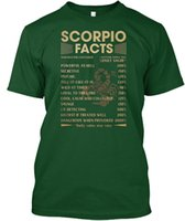 mens designer t shirts shirt Scorpio Facts Popular Tagless T...