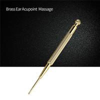 Yeni Altın Pirinç Kulaklar Basın Sopa Sağlık Masaj Elastik Akupunktur Noktaları Kalem Doğal Psikolojik Terapiler