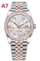Reloj de lujo Movimiento automático 36mm Diamante 126281 126281RBR 126231 Dial rosa Acero inoxidable JUBLIEE Pulsera de pulsera Relojes de pulsera con caja