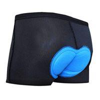 Cuissards Hommes 3D matelassée vélo Sous-vêtements vélo Underpants légère vélo Shorts Sous-vêtements coussin silicone # 2P22