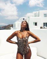 d72276415fd Leopard Sling One-piece Vintage Bikini 2019 New Fashion Sexy Slim Push Up Women  Swimsuit Summer Beach High Quality Swimwear cots985