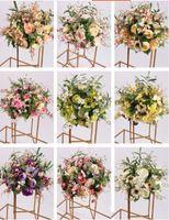 Шелковый цветок Бал цветов Стеллаж для свадьбы Centerpiece дома украшения комнаты партии Supplies Lead DIY Craft роуд цветок 9 цвет