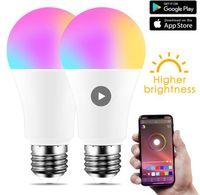 Bulb New sem fio Bluetooth 4.0 inteligente Bulb casa lâmpada de iluminação 10W E27 Magia RGB + W LED Mudança Luz cor Regulável IOS / Android