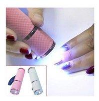 New 1pc Mini LED Nail Sèche-portable lampe UV Cure ongles Gel rapide Sèche-ongles Gel manucure Outils de maquillage 4 couleurs disponibles