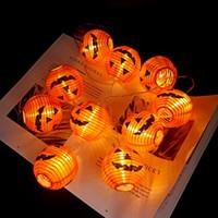 Kürbis 10 LED-Schnur-Licht Halloween Deko Licht 1.5m Seil-Fee-Licht-Lampe Laterne Helloween Dekoration Gartenweihnachtsdekoration