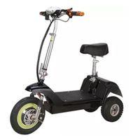 Bicicleta eléctrica bicicleta al aire libre mini plegable bicicleta tres ruedas adultos scooter aluminio aleación 350w 36v ligero e