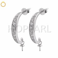 Brilliance Zircons Wedding Bridal Jewelry Findings 925 Sterl...